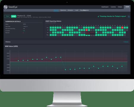 A screenshot of SteelEyes EMIR reporting user interface