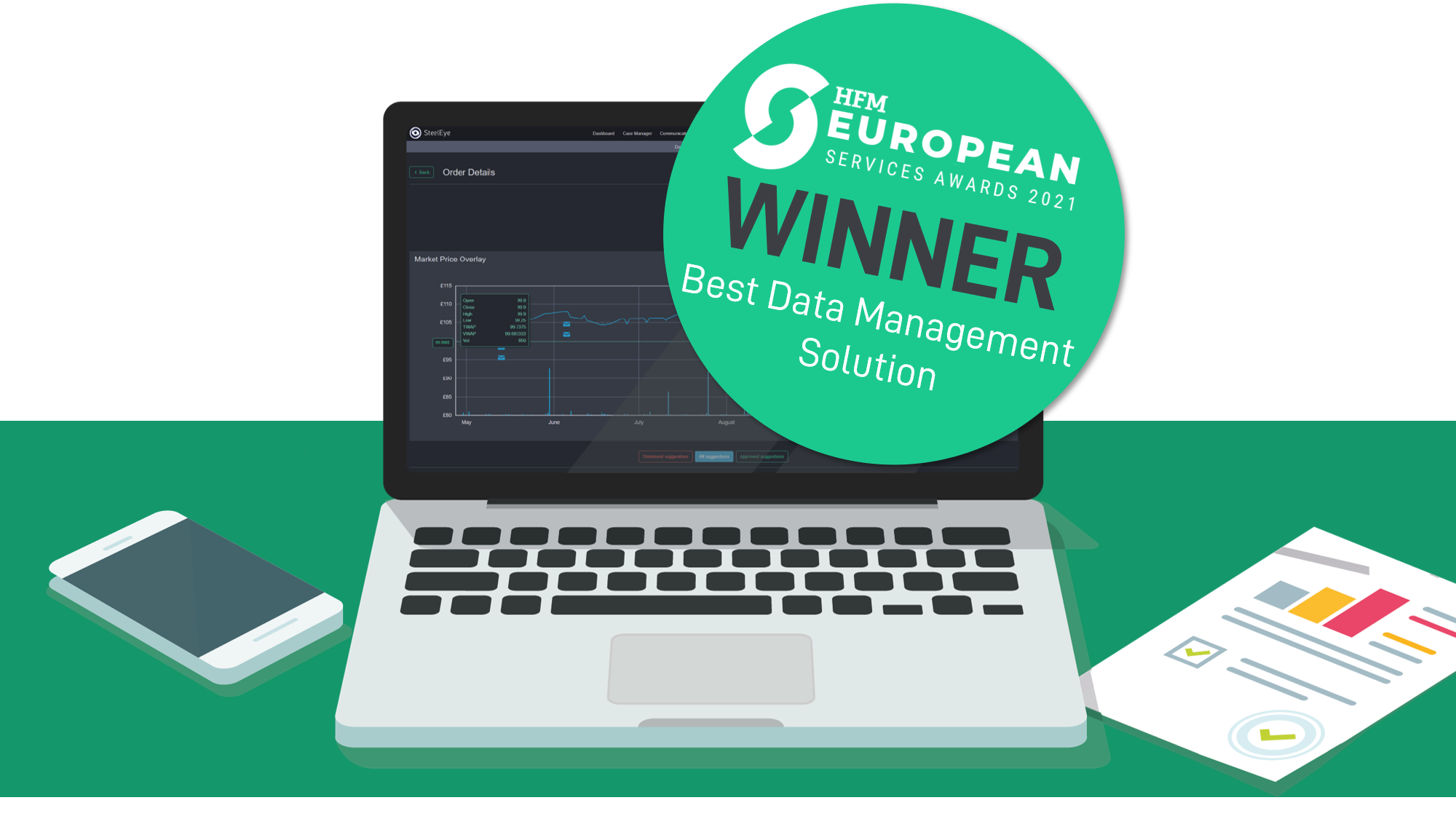SteelEye Recognised as the Best Hedge Fund Data Management Solution
